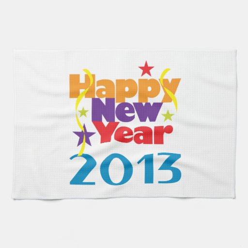 Happy New Year 2013 Towels