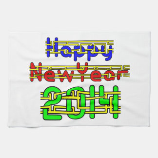 Happy New Year 2014 Kitchen Towels