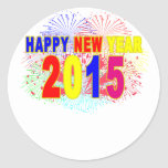 HAPPY NEW YEAR 2015.png Round Stickers