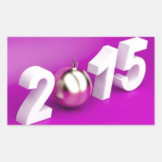 Happy New Year 2015 Rectangular Sticker