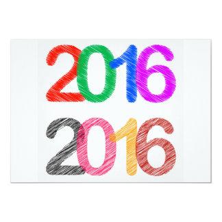 Happy New Year 2016 13 Cm X 18 Cm Invitation Card