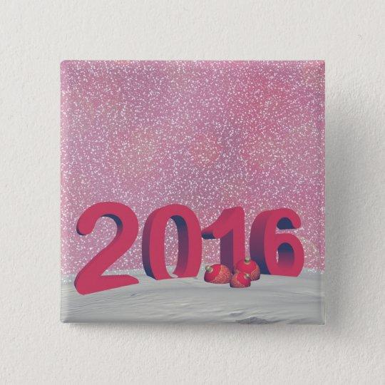 Happy new year 2016 15 cm square badge
