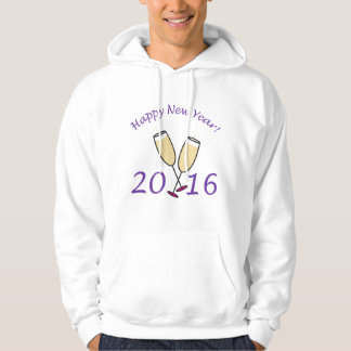 Happy New Year 2016 Champagne Toast Hooded Sweatshirt
