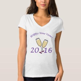 Happy New Year 2016 Champagne Toast Tee Shirts
