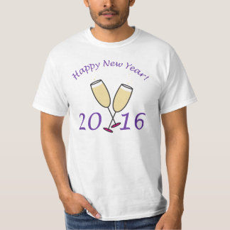 Happy New Year 2016 Champagne Toast Tees