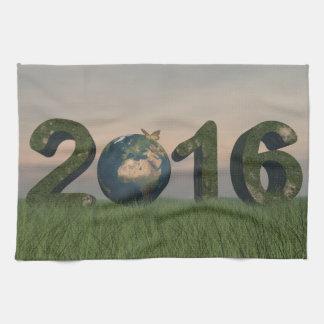Happy new year 2016 hand towel