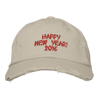 HAPPY NEW YEAR 2016 PARTY HAT EMBROIDERED BASEBALL CAP