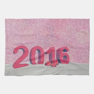 Happy new year 2016 tea towel