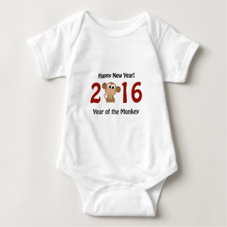Happy New Year 2016 Year Of the Monkey Baby Bodysuit