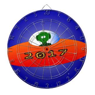 Happy New Year 2017 Alien Dartboard