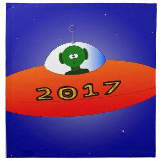 Happy New Year 2017 Alien Napkin