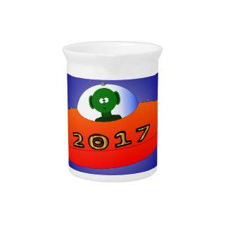 Happy New Year 2017 Alien Pitcher
