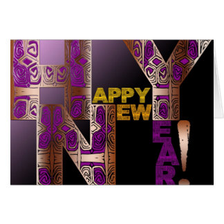 Happy New Year 2017 Decorative Letters Card