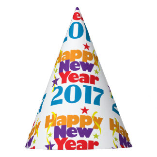 Happy New Year 2017 Party Hats