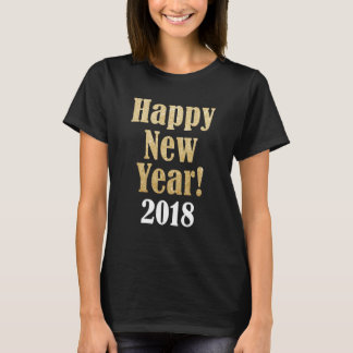 Happy New Year 2018 Golden Sparkle Women's T Shirt