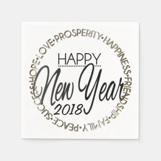 Happy New Year 20XX Paper Serviettes