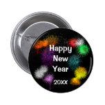Happy New Year 6 Cm Round Badge