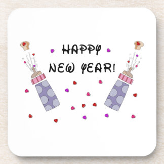 Happy New Year Baby Coaster
