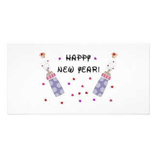 Happy New Year Baby Personalized Photo Card
