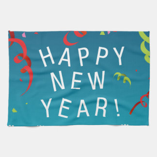 Happy New Year Background Towels