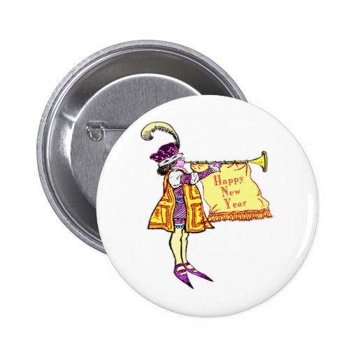 Happy New Year Pinback Buttons