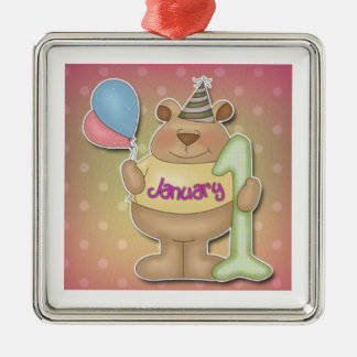 Happy New Year Bear Christmas Ornament