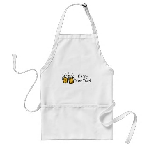 Happy New Year Beer Apron