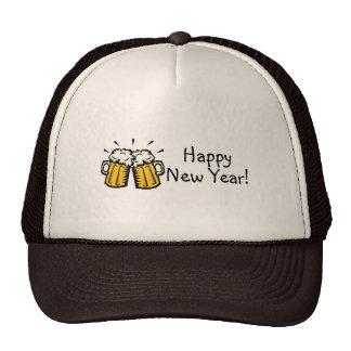 Happy New Year Beer Trucker Hats