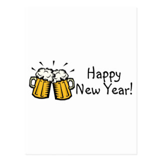 Happy New Year Beer Postcards