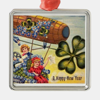 Happy New Year Blimp Ornament