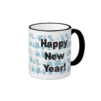 Happy New Year Bubbles Ringer Mug