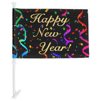 """""""Happy New Year!"""" Car Flag"""