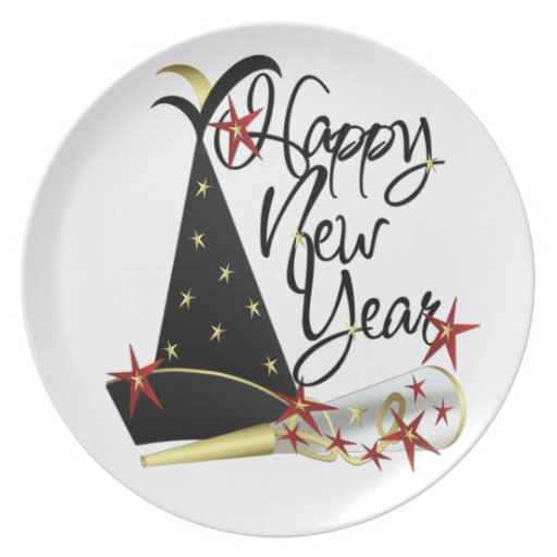 It S A New Year The Perfect Time To Redo Your Kitchen: Happy New Year Celebration Pate Dinner Plate