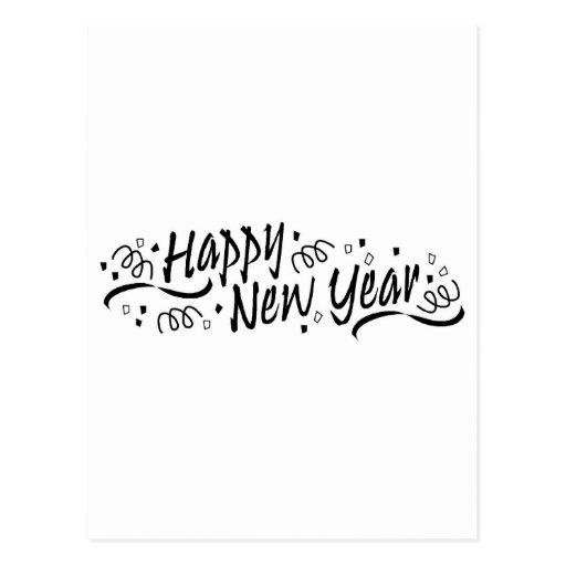 Happy New Year Celebration Post Card