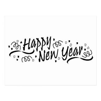 Happy New Year Celebration Postcard