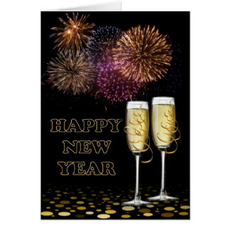 Happy new Year - Champagne Greeting Card