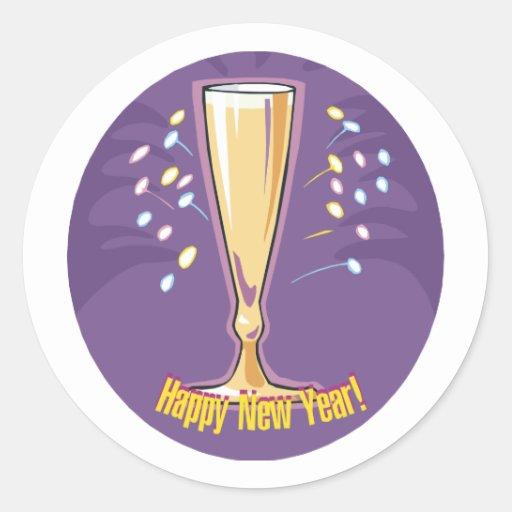 Happy New Year Champagne Sticker