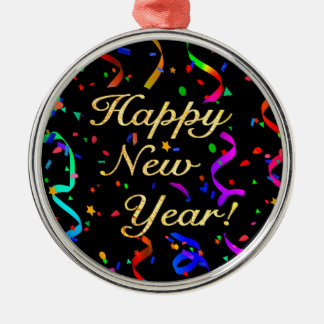 """""""Happy New Year!"""" Christmas Ornament"""