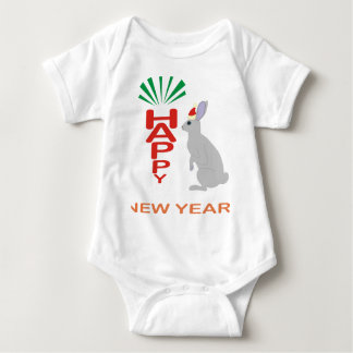 Happy New Year Collection With Hare Design Infant Creeper