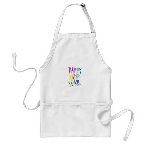 Happy New Year Color 3 Apron