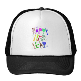Happy New Year Color 3 Hat