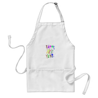 Happy New Year Color 3 Standard Apron
