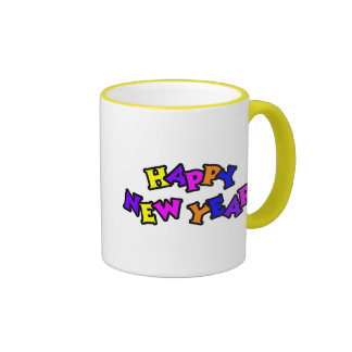 Happy New Year Color 4 Mugs