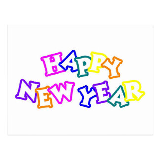 Happy New Year Color Postcard