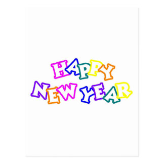 Happy New Year Color Post Card