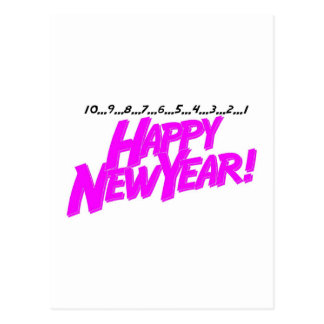 Happy New Year Countdown Postcard