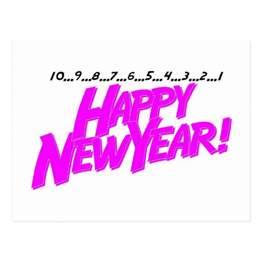 Happy New Year Countdown Post Card