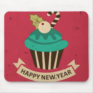 Happy New Year Cupcake Mouse Pad