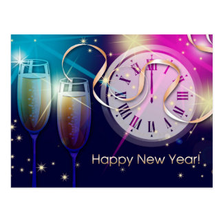Happy New Year. Customizable Postcards