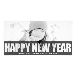 HAPPY NEW YEAR CUT OUT PHOTO CARD